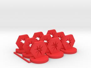 Critical Hit Token in Red Processed Versatile Plastic