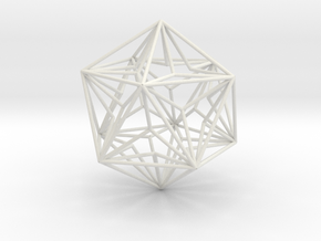 Great Dodecahedron in White Natural Versatile Plastic