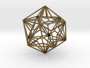Great Dodecahedron in Natural Bronze