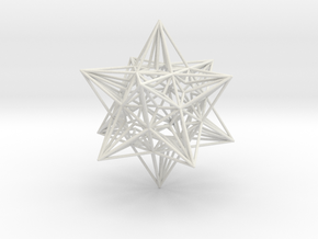 Great Icosahedron in White Natural Versatile Plastic