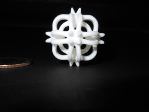 spike charm 03 5 (printing) in White Natural Versatile Plastic