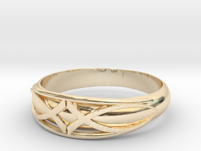 Size 10 L Ring  in 14K Yellow Gold