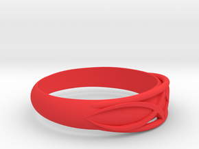 Size 9 L Ring  in Red Processed Versatile Plastic