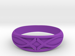 Size 8 L Ring  in Purple Processed Versatile Plastic