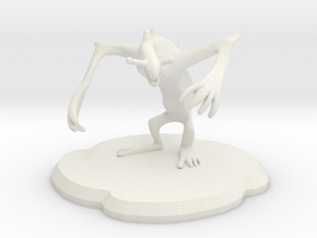 Meanion Figure in White Natural Versatile Plastic