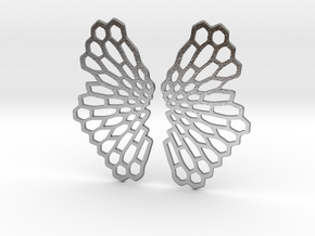 Honeycomb Butterfly Earrings / Pendant in Natural Silver
