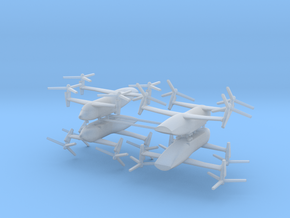 1/700 Bell Boeing Quad Tiltrotor Transport (x4) in Smooth Fine Detail Plastic