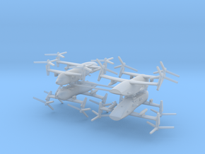 1/700 Bell Boeing Quad Tiltrotor Gunship (x4) in Frosted Ultra Detail