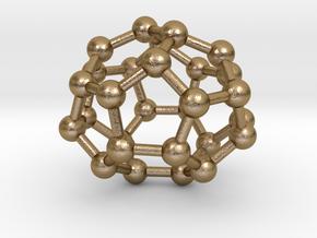 0004 Fullerene c28 d2 in Polished Gold Steel