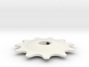 Pulley 11t for RD, hollow (lower pulley) in White Natural Versatile Plastic
