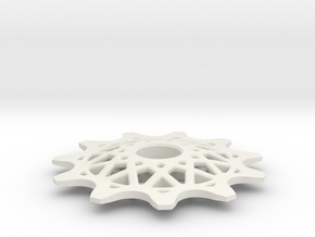 Pulley 11t for RD, spoked (lower pulley) in White Natural Versatile Plastic