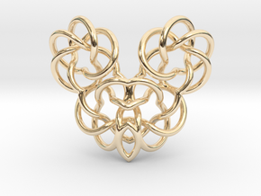 Heart/Skull  in 14K Yellow Gold