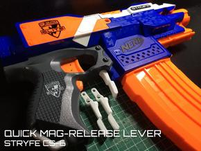 Quick Mag-release (Nerf Stryfe)  in White Strong & Flexible