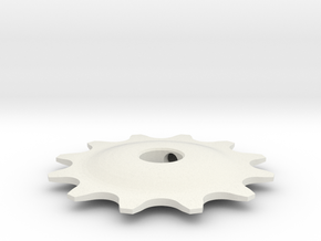 Pulley 12t for RD, hollow (lower pulley) in White Natural Versatile Plastic