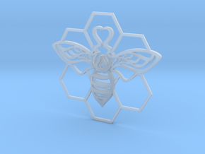 The Bee Pendant in Smooth Fine Detail Plastic