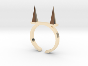 Pickle Fork Ring in 14K Yellow Gold