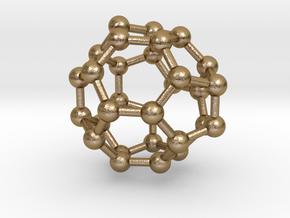 0008 Fullerene c30-3 in Polished Gold Steel