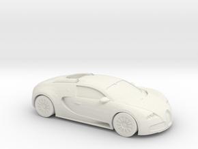 1/87 2005-12 Bugatti Veyron in White Natural Versatile Plastic