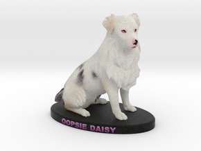 Custom Dog Figurine - Oopsie Daisy in Full Color Sandstone