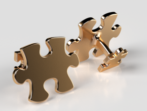 Puzzle Cufflinks in 14K Yellow Gold