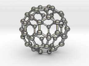 0009 Fullerene c60 ih in Polished Silver