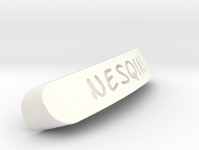 Nesqin Nameplate for SteelSeries Rival in White Processed Versatile Plastic