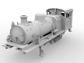 O16.5 G42 Middle Unit(1:43 Scale) in White Strong & Flexible