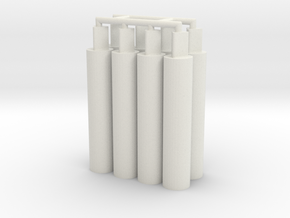 8x Thick Pegs 2.0 in White Strong & Flexible