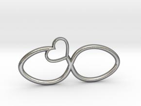Eternal Heart Pendant in Natural Silver