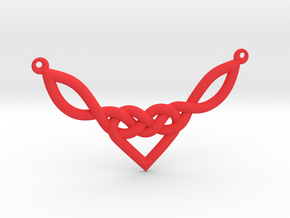 Celtic Heart Knot Pendant in Red Processed Versatile Plastic