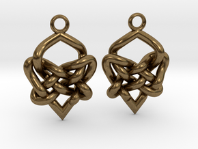 Celtic Heart Knot Earring in Natural Bronze