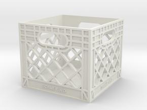 Milk Crate in White Natural Versatile Plastic: 1:8