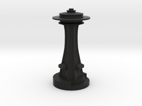 Space Needle in Black Natural Versatile Plastic