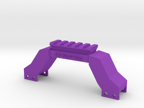 Briefcase Picatinny Riser (Solid) in Purple Processed Versatile Plastic