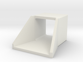 H0 Box Culvert Flared Headwall (size 2) in White Natural Versatile Plastic