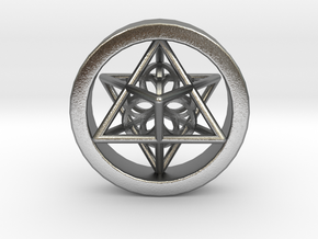 Merkaba Gauge Size 3/4 in Natural Silver