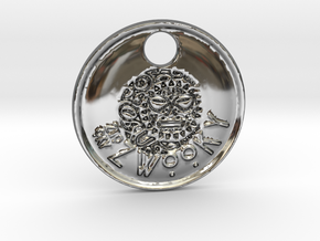 ZWOOKY Style 85 Sample - keychain head in Fine Detail Polished Silver