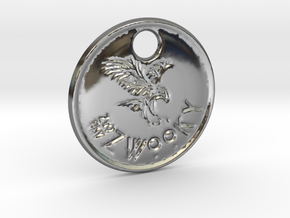 ZWOOKY Style 83 Sample - keychain eagle in Fine Detail Polished Silver