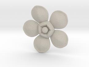 Flower in Natural Sandstone