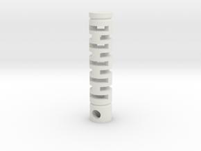 Tritium Vial Keychain in White Natural Versatile Plastic