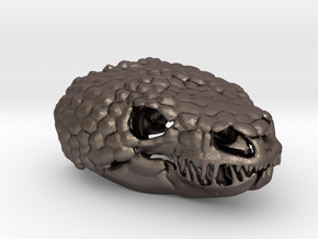 Gila Monster Heloderma Suspectum 2 - 75mm  in Polished Bronzed Silver Steel