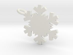 Snowflake Necklace in White Natural Versatile Plastic