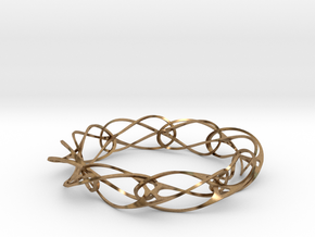Vertebracelet in Natural Brass
