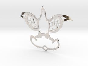Dove/Flower Pendant  in Platinum