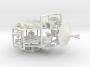 Minibodenmühle 2 - Antrieb 1:220 (Z scale) in White Natural Versatile Plastic