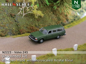 Volvo 245 DL (N 1:160) in Smooth Fine Detail Plastic