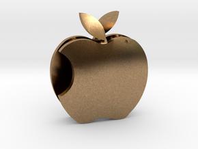 Apple Sculpture in Natural Brass