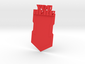 """You Are Here"" Bookmark in Red Processed Versatile Plastic"