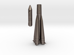 1/200 VOSKHOD SOVIET ROCKET in Polished Bronzed Silver Steel