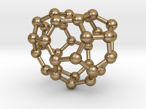 0016 Fullerene c34-1 c2 in Polished Gold Steel